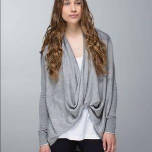 Lululemon Iconic Sweater Wrap Heathered Grey M 6